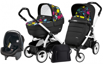 Коляска 3 в 1 Peg Perego Book 51 Elite Set Modular (прогулочный блок Pop-Up Completo, шасси White/Black)