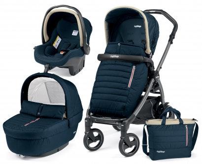 Коляска 3 в 1 Peg Perego Book 51S Breeze Set Modular (шасси White/Black)