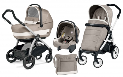 Коляска 3 в 1 Peg Perego Book Plus XL Set Modular (прогулочный блок Pop-Up Completo)