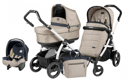 Коляска 3 в 1 Peg Perego Book 51S Pop-Up Modular System (шасси White/Black)