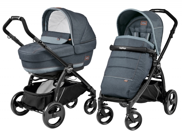 Коляска 2 в 1 Peg Perego Book Plus Elite Modular System (прогулочный блок Pop-Up Completo) Blue Denim Elite