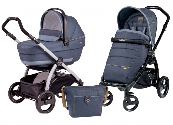 Коляска 2 в 1 Peg Perego Book Plus XL Modular System (прогулочный блок Pop-Up Completo) Blue Denim