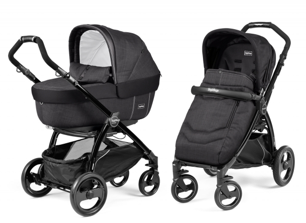 Коляска 2 в 1 Peg Perego Book Plus Elite Modular System (прогулочный блок Pop-Up Completo) Onyx