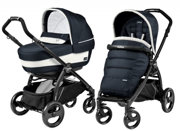Коляска 2 в 1 Peg Perego Book Plus Elite Modular System (прогулочный блок Pop-Up Completo) Luxe Blue