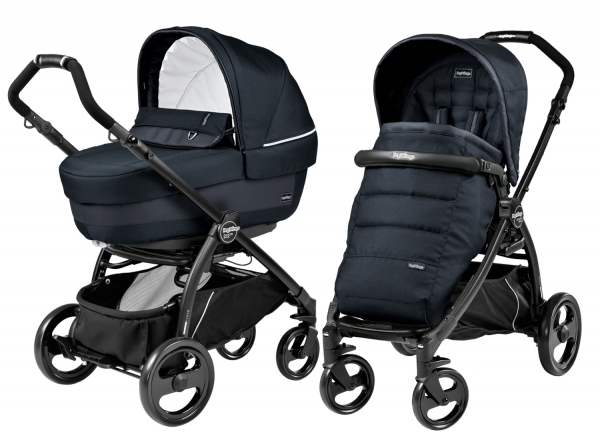 Коляска 2 в 1 Peg Perego Book Plus Elite Modular System (прогулочный блок Pop-Up Completo) Luxe Bluenight