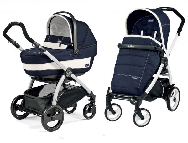 Коляска 2 в 1 Peg Perego Book Plus XL Modular System (прогулочный блок Pop-Up Completo) Riviera