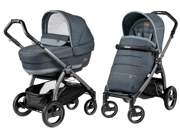 Коляска 2 в 1 Peg Perego Book S Elite Modular System (прогулочный блок Pop-Up Completo) Blue Denim Elite