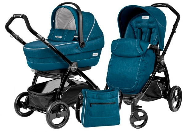 Коляска 2 в 1 Peg Perego Book Plus XL Modular System (прогулочный блок Pop-Up Completo) Saxony Blue