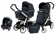 Коляска 3 в 1 Peg Perego Book 51 Pop-Up Modular System (шасси White/Black)