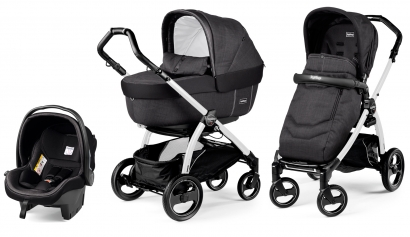 Коляска 3 в 1 Peg Perego Book S Elite Set Modular (прогулочный блок Pop-Up Completo, шасси White/Black)