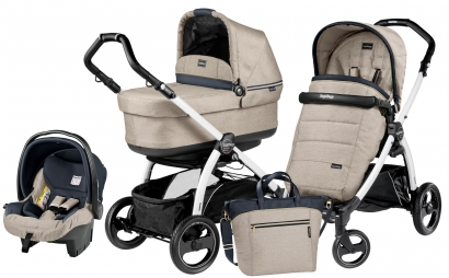 Коляска 3 в 1 Peg Perego Book S Pop Up Set Modular (прогулочный блок Pop-Up Completo, шасси White/Black)