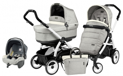 Коляска 3 в 1 Peg Perego Book 51 Pop Up Set Modular (шасси White/Black)