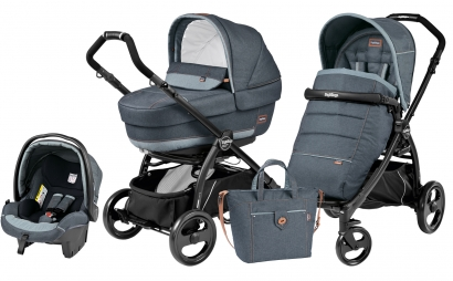 Коляска 3 в 1 Peg Perego Book Plus Elite Modular System (прогулочный блок Pop-Up Completo)