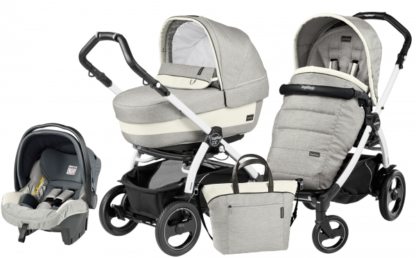 Коляска 3 в 1 Peg Perego Book 51 S Elite Set Modular (прогулочный блок Pop-Up Completo, шасси White/Black)